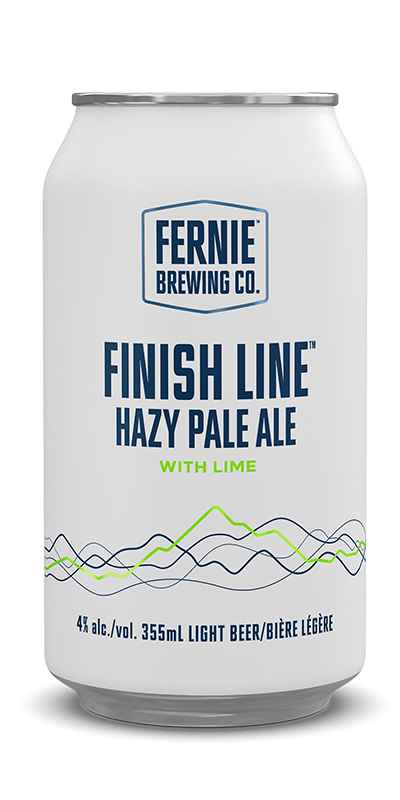 Fernie Brewing Co. Finish Line Hazy Pale Ale with Lime
