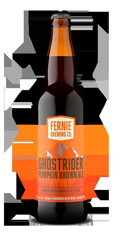 Fernie Brewing Co. Ghostrider Pumpkin Brown Ale bottle