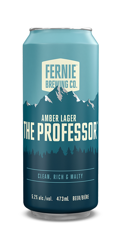Fernie Brewing Co. The Professor Amber Lager can