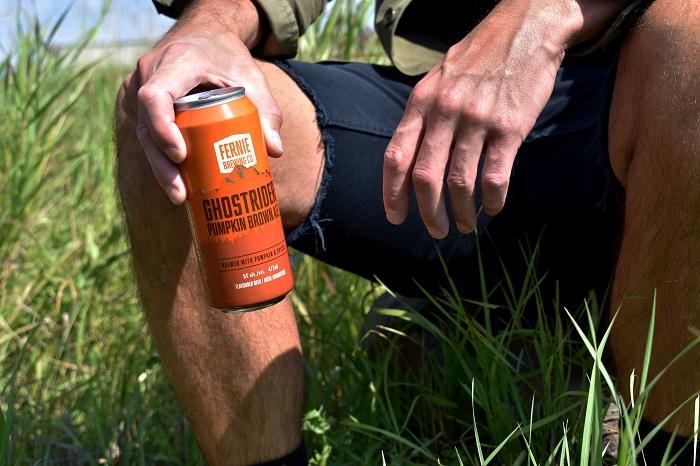 pumpkin beer in a can