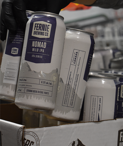 Nomad Wild IPA being packaged