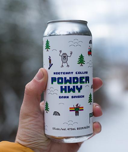 Powder Hwy Dark Saison can