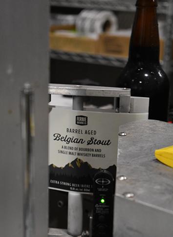 Barrel Aged Belgian Stout label
