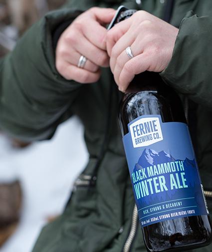 Black Mammoth Winter Ale bottle