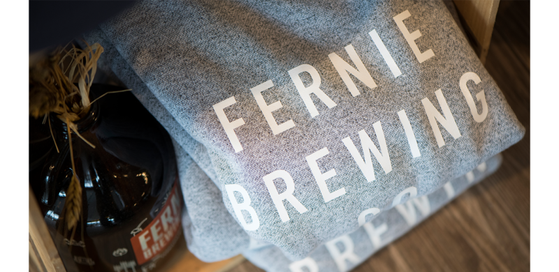 Fernie Brewing Co. grey sweater