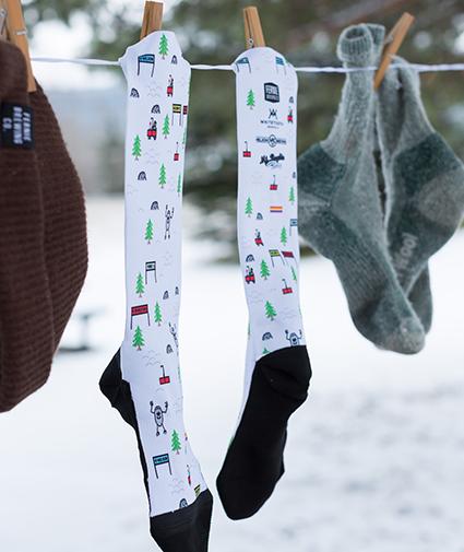 Powder Hwy Dark Saison socks