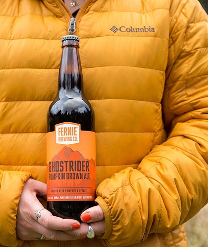 Ghostrider Pumpkin Brown Ale bottle