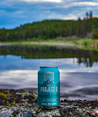 Project 9 Pils can by the river