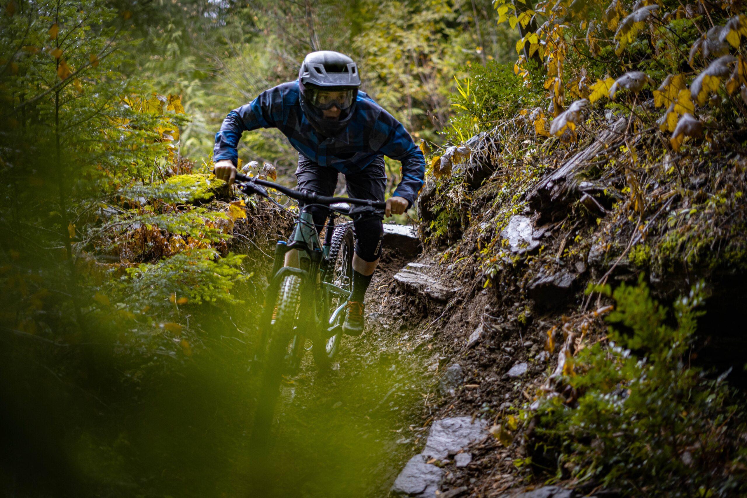 Micah Morris mountain biking.