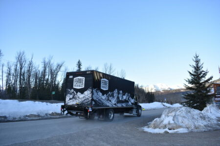The Fernie Brewing Co. truck hits the road.