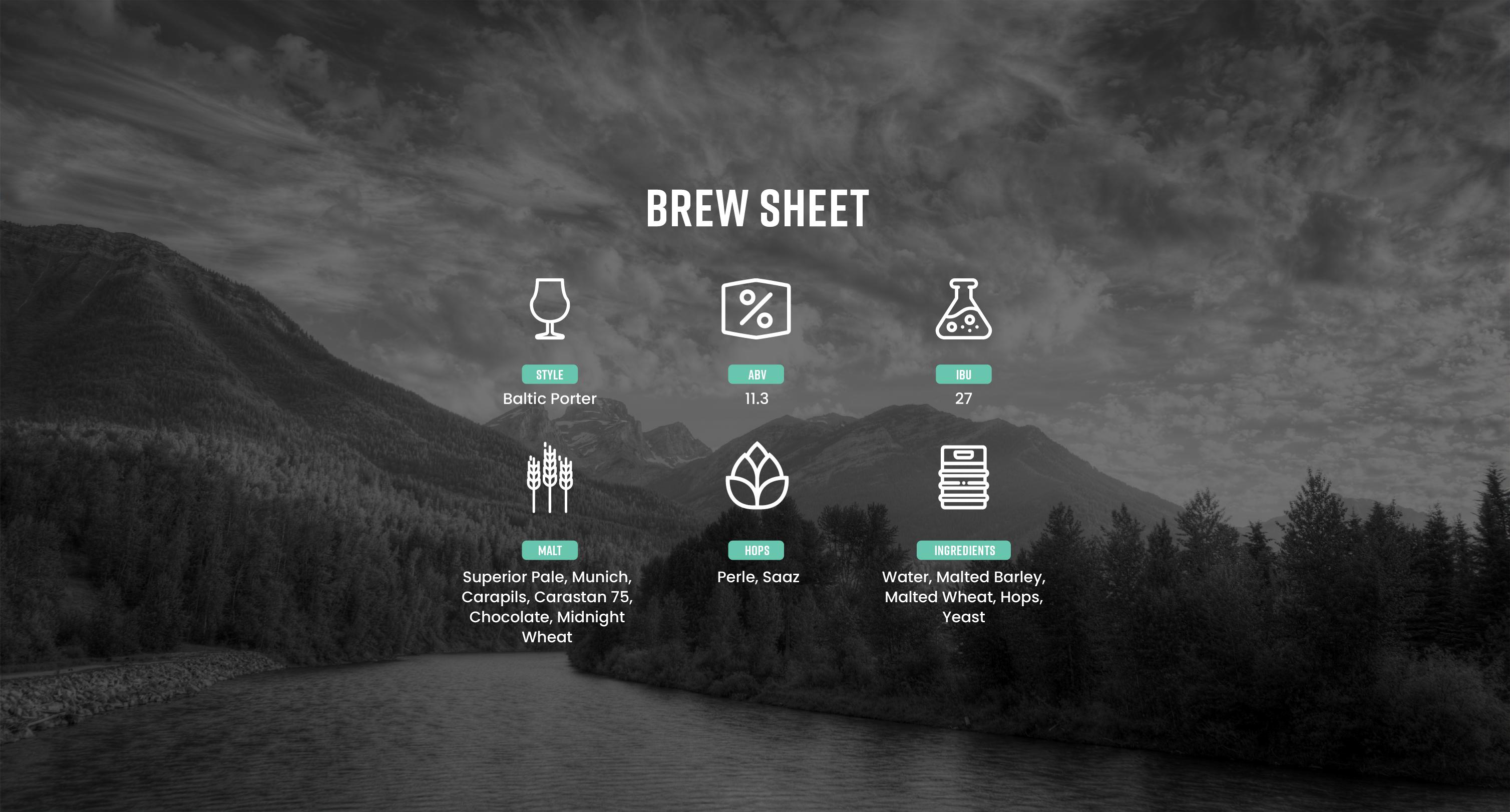 Barrel Aged Porter Brew Sheet
