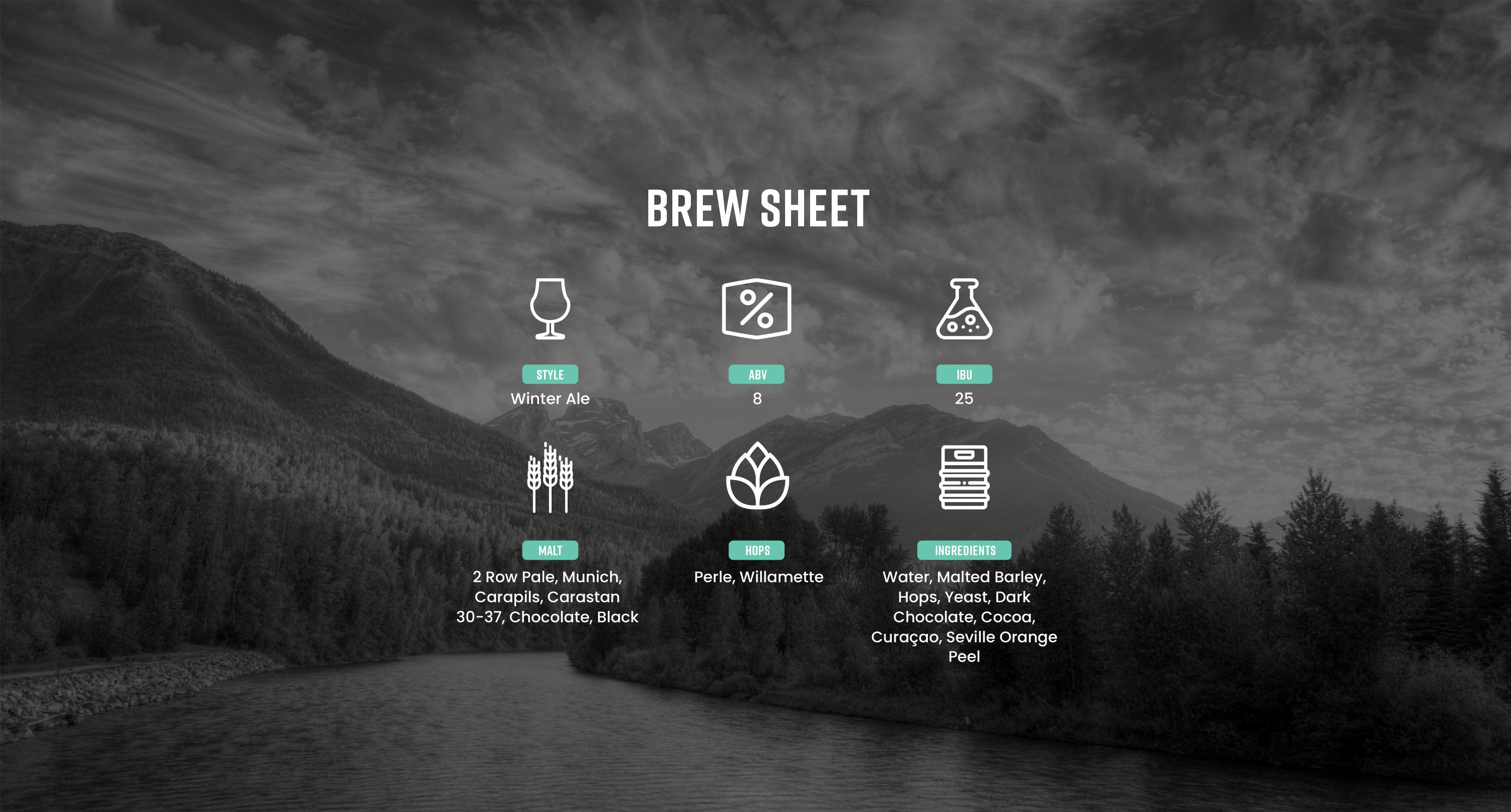 Black Mammoth Brew Sheet