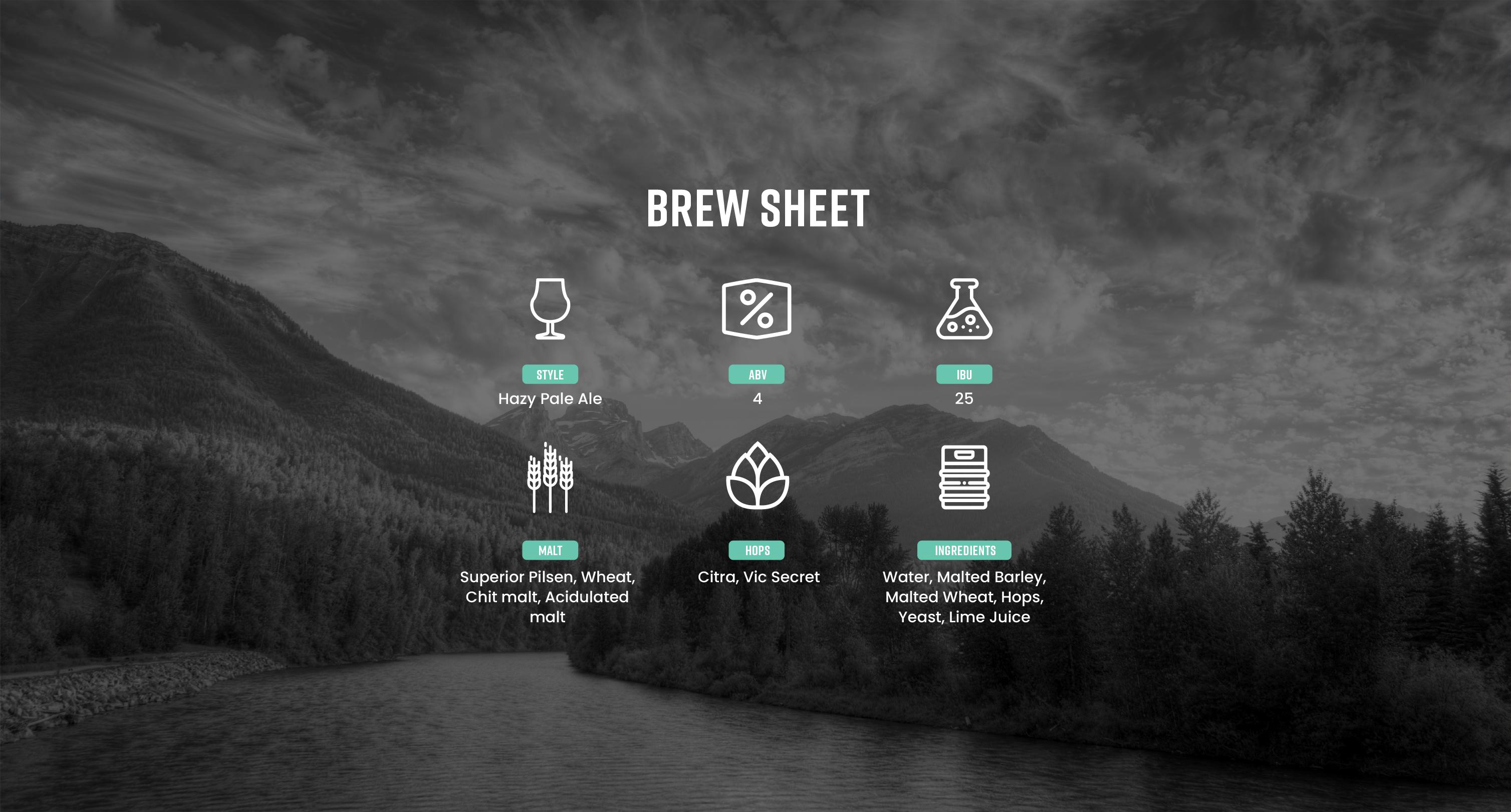 Finish Line Brew Sheet