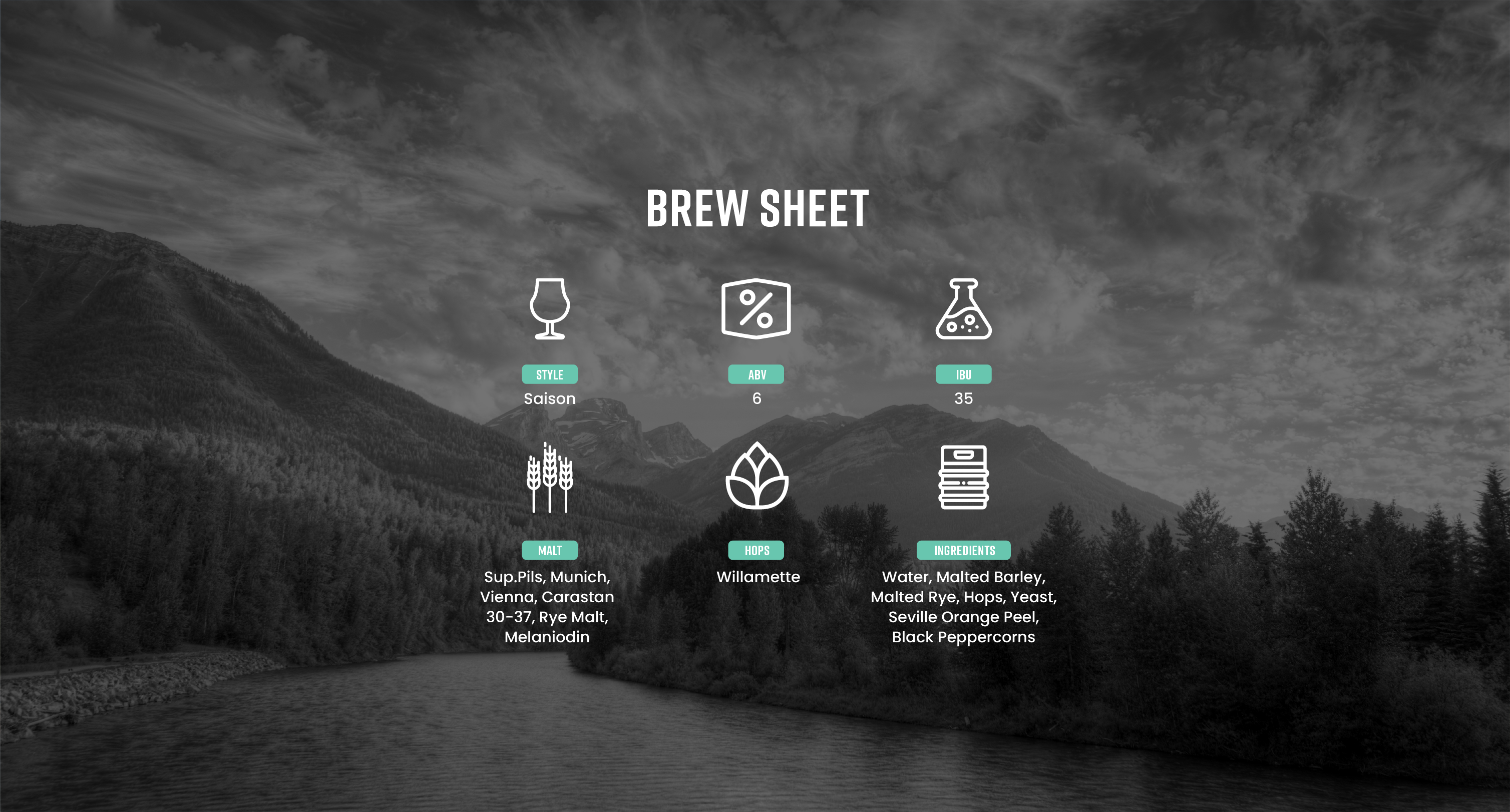 High Side Brew Sheet