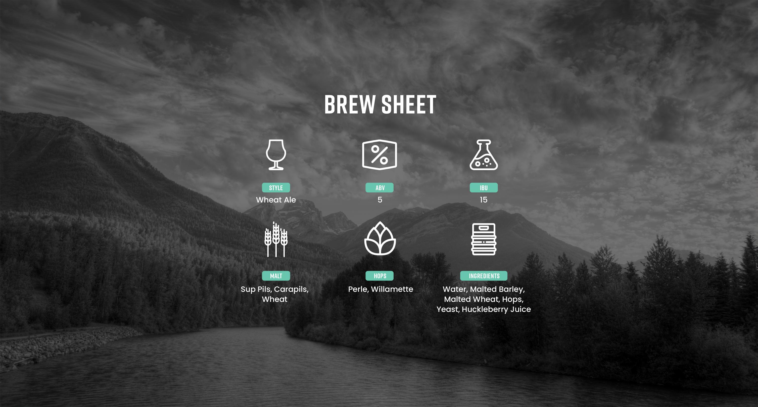 Huck Brew Sheet