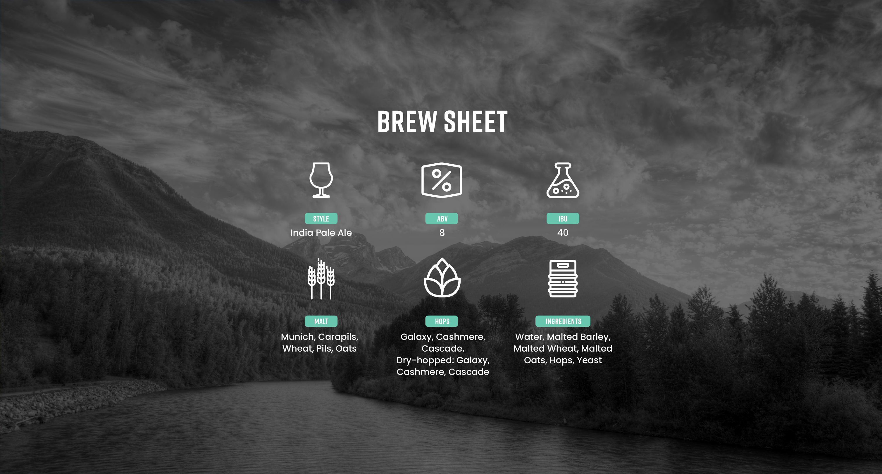 Off Axis Brew Sheet