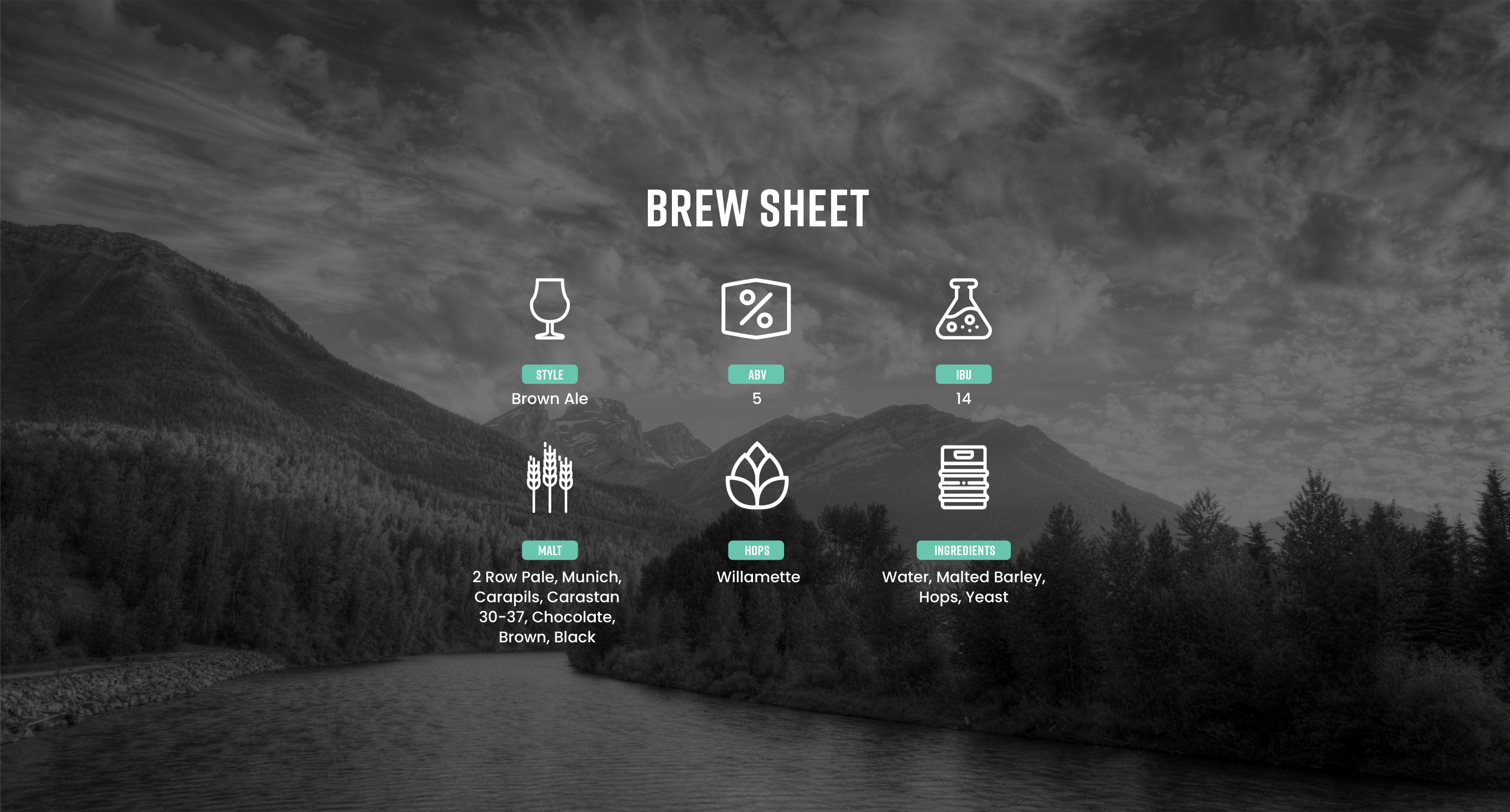 First Trax Brew Sheet