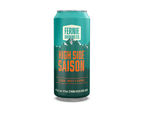 High Side Saison 473mL can.