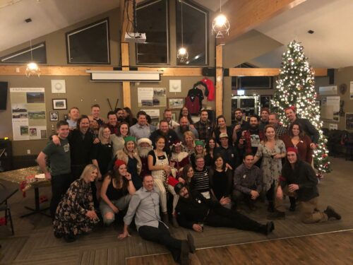 Fernie Brewing Co. staff at their Christmas party in 2019.