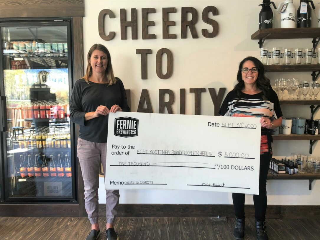 Fernie Brewing Co. donation to East Kootenay Foundation for Health