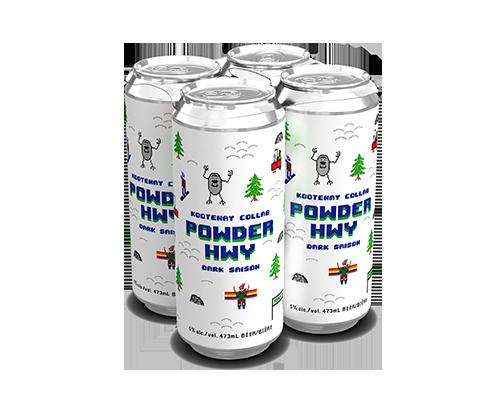 Powder Hwy Dark Saison 4-pack