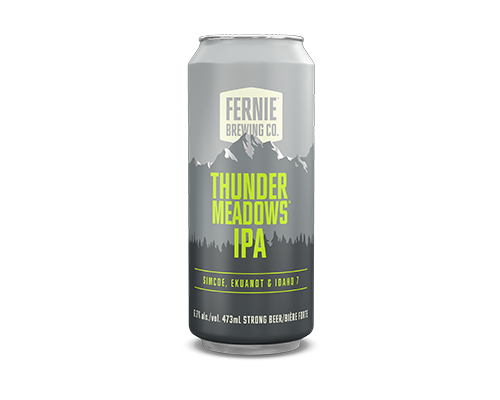 Thunder Meadows IPA 473mL can.