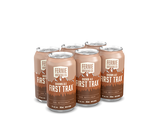 First Trax Brown Ale 6-pack.