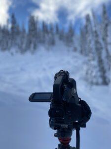 camera and snow