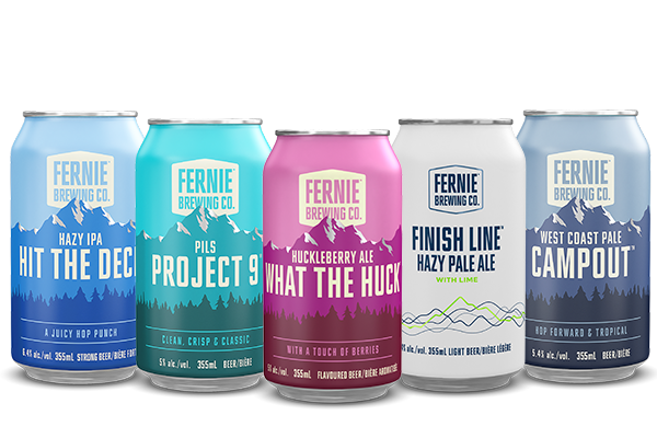 A row of year round FBC brand beer