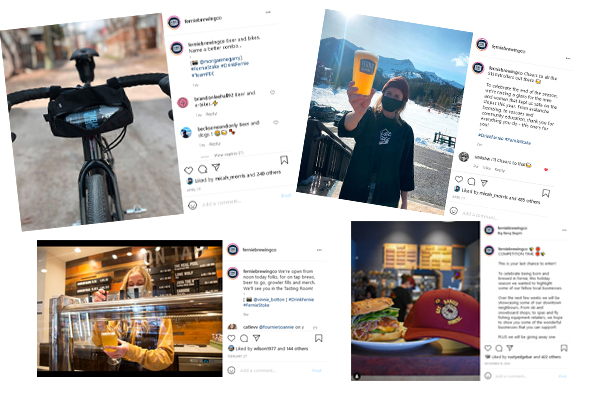 A selection of branded social posts