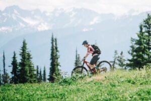 Micah mountain biking