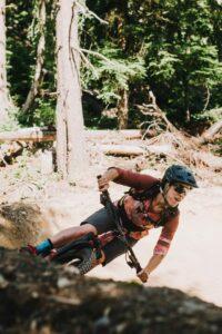 Micah riding a berm