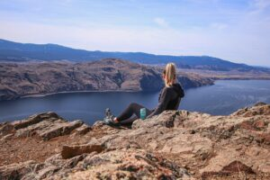Summit overlooking the Okanagan