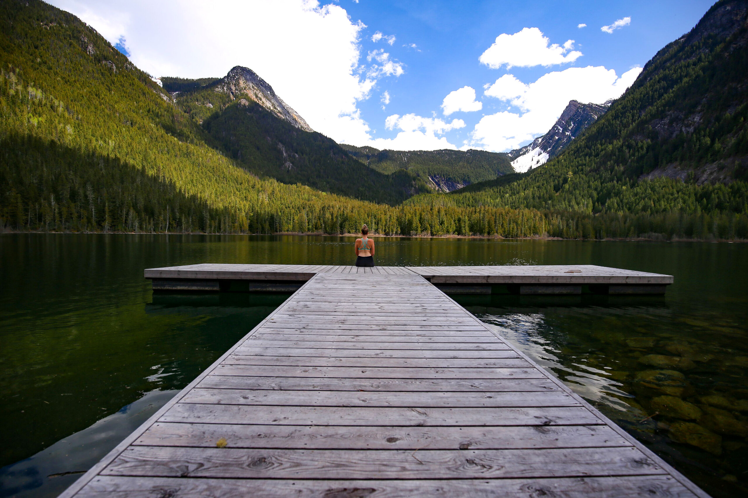 Dock in the mountains