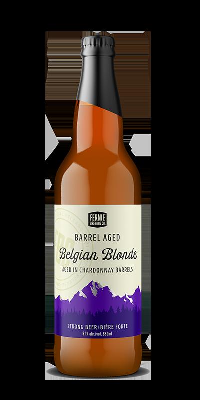 Bottle of BArrel Aged Belgian Blonde