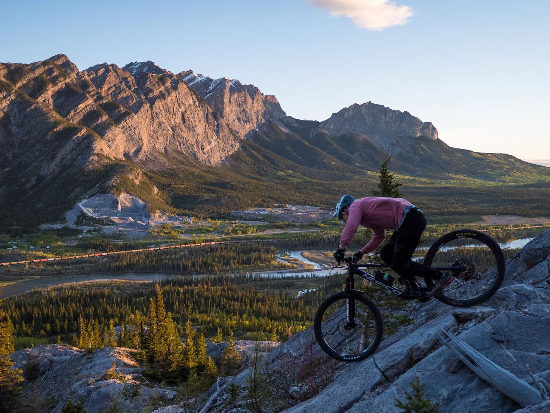 Morgan bike riding on a mountain
