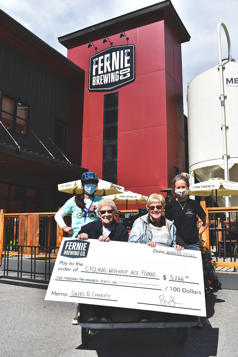 Seniors accept cheque from FBC